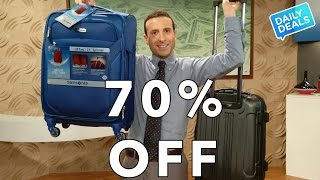 Carry On Luggage, Samsonite Luggage, Spinner Luggage Sale ► The Deal Guy