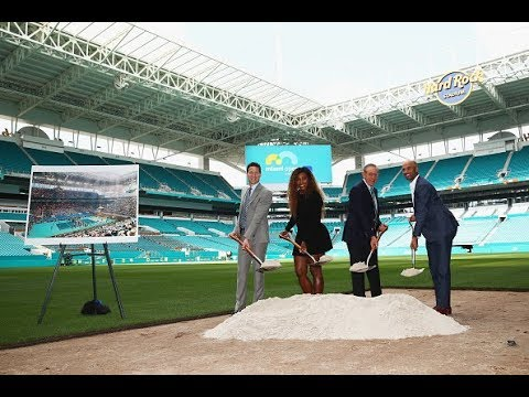 Serena Williams breaks ground at Miami's Hard Rock Stadium