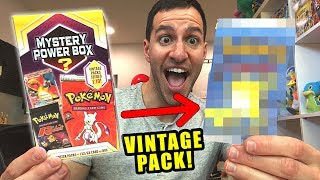 *VINTAGE BOOSTER PACK PULLED!* Opening Pokemon Cards MYSTERY POWER BOXES from WALMART!