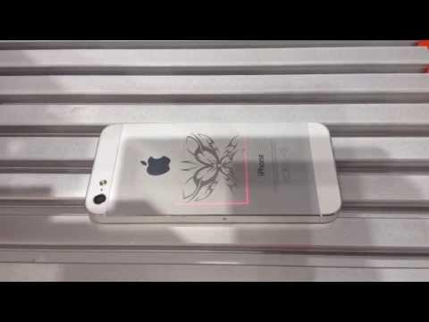 видео: Лазерная гравировка на iphone