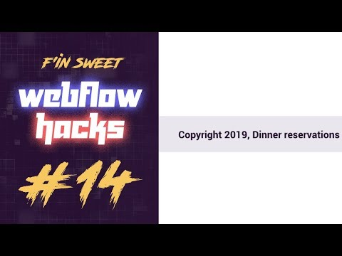 Webflow Hack #14 - Automatically Show Current Year In Footer With Span And Js