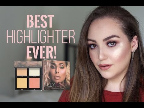 �ล�าร���หารู��า�สำหรั� Huda Beauty 3D Highlighter Palette Pink Sands