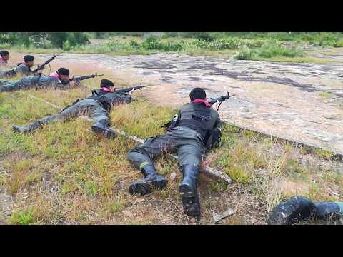 ้่้ตชด.ฝึกซ้อมยิงปืน ปลย.M16 ด้วยกระสุนจริง 5.56 mm. ระยะ100 เมตร เป้าหุ่นนอน ชุดที่1