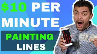 Make Money Online Painting Lines- Easy Online Method ($100+ A Day)