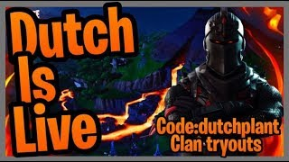 FORTNITE [ LIVE ] CLAN TRYOUTS - PRIVATE MATCHS - PS4 XBOX PC SWITCH