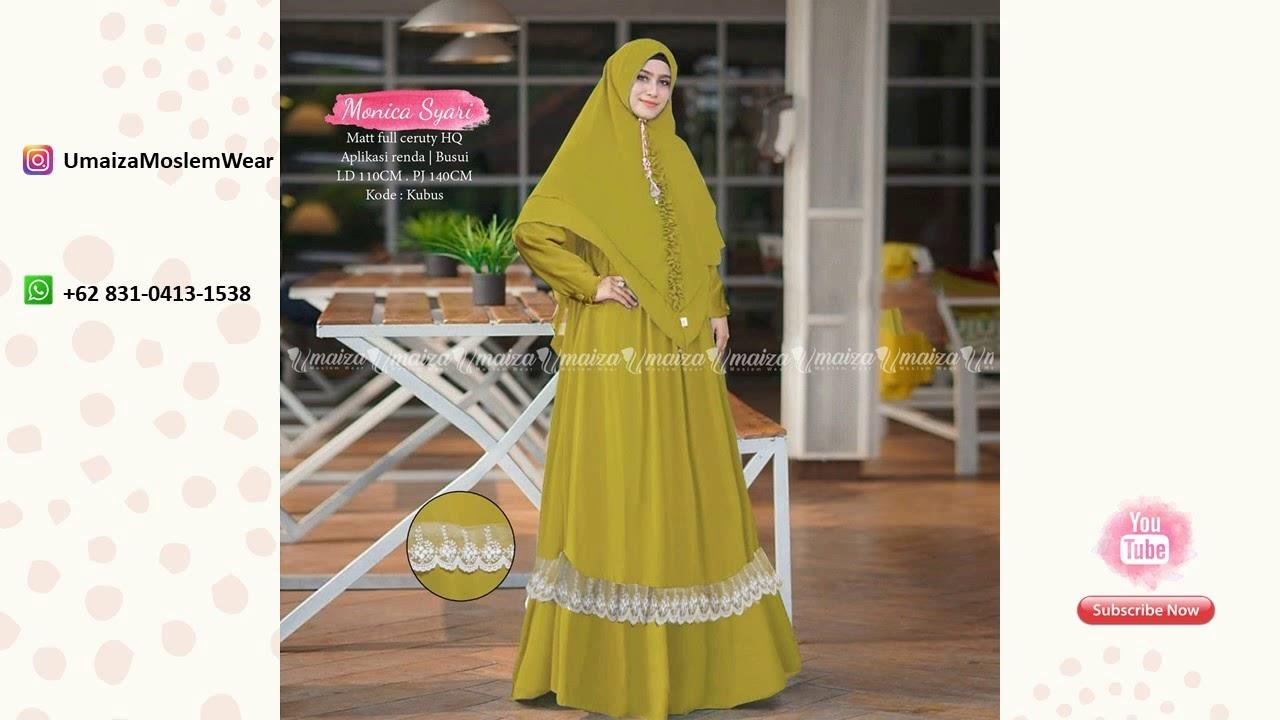 Jual Jilbab Dan Gamis Batik Kombinasi Brokat Terbaru WA 62