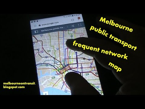 Frequent Network Public Transport Map For Melbourne
