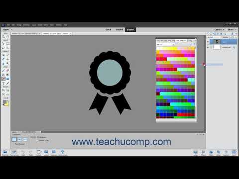 Photoshop Elements 2021 Tutorial Selecting Colors With The Swatches Panel Adobe Training
