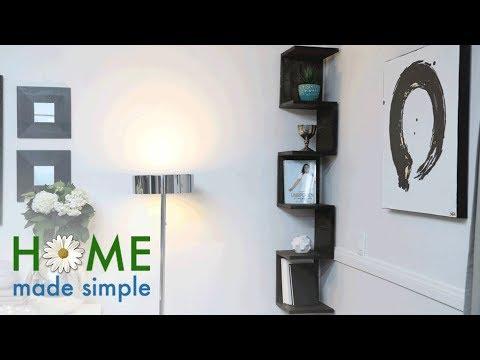 An Eye-Catching Corner Shelf | Home Made Simple | Oprah Winfrey Network