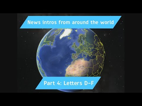 All News Intros from around the world Part 4: Letters D-F