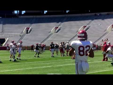 Alabama QBs Jalen Hurts and Tua Tagovailoa working inside Bryant-Denny Stadium