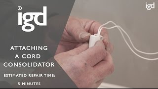 Wooden Blinds Direct: How to attach a cord consolidator