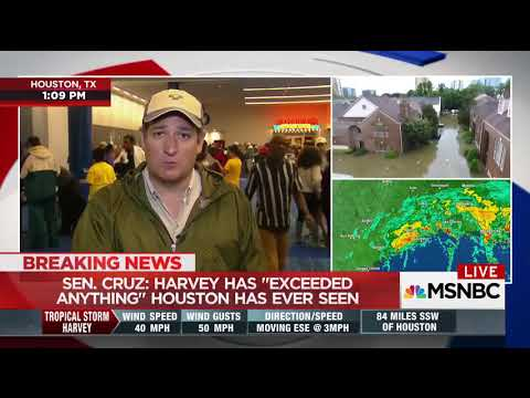 Ted Cruz squirms as Disaster Relief Hypocrisy Gets Called Out As He Begs For Federal Money
