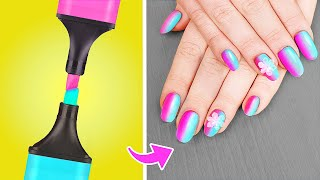11 Weird Nail Hacks / Christmas Nail Art