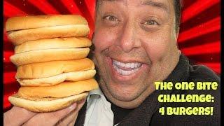 The One Bite Challenge: 4 Burgers...Food Challenge!