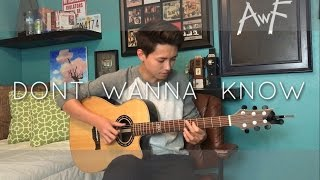 Maroon 5 - Don't Wanna Know - Cover (Fingerstyle Guitar) Video