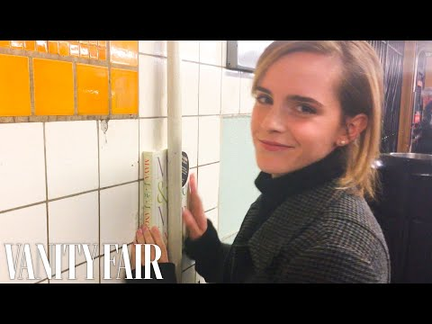 Thumbnail: Emma Watson Hides Books Around the New York City Subway | Vanity Fair
