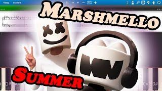 Marshmello - Summer [Piano Tutorial | Sheets | MIDI] Synthesia