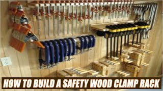 Discover how to build a wood clamp rack with safety features. Safety is very important in a woodworking workshop so make sure