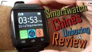 smart watch u8 chins aliexpress unboxing review