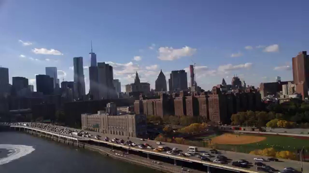 Insane Views From Manhattan Bridge Nyc New York City Skyline Youtube
