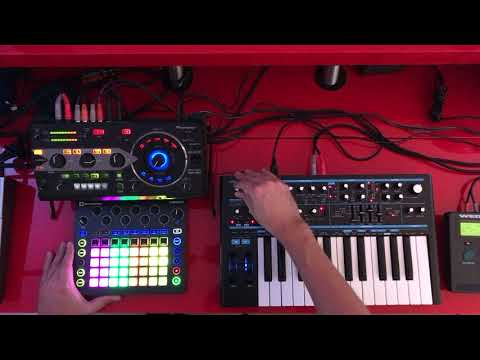Hardware Jam   Novation Circuit, BS2, RMX 1000, Alesis Wedge