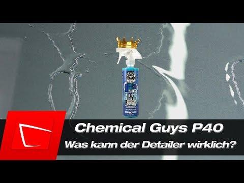 Chemical Guys P40 Detailer Test mehr Glanz, mehr Schutz, Wachse auffrischen u. Scheiben versiegeln?