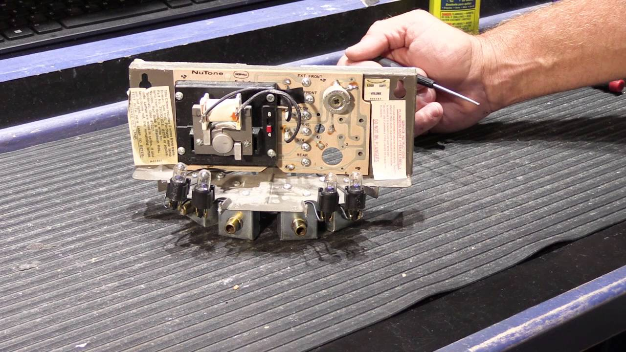 how to service a nutone 8 note long tube door chime base [ 1280 x 720 Pixel ]