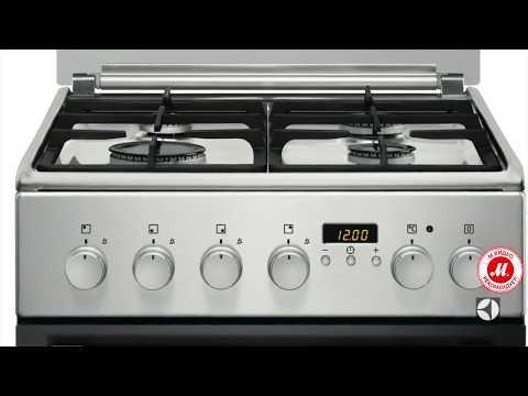 Газовая плита Electrolux EKK954504X с электрической духовкой