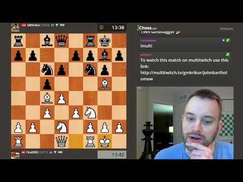 Rapid Match vs. GM Krikor Mekhitarian! [Dual Commentary]