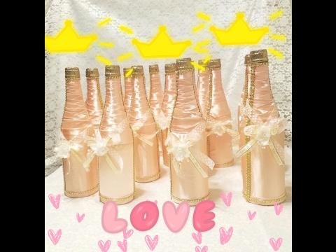 Quince a os botellas decoradas youtube - Botellas de plastico decoradas ...
