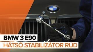 BMW 3 E90 hátsó stabilizátor rúd csere ÚTMUTATÓ | AUTODOC