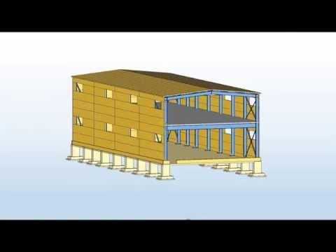 Проект типового каркаса здания из прокатных двутавров с пролетами 6, 9, 12, 18 м