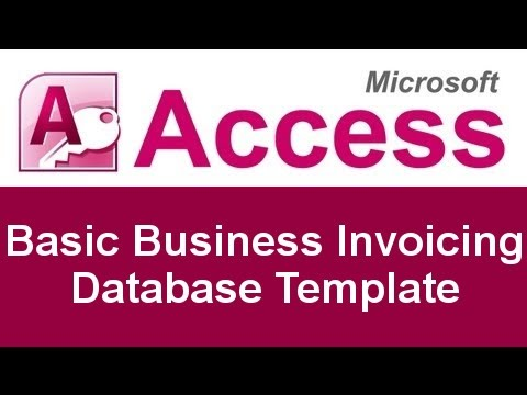 Microsoft Access Basic Business Invoicing Database Template YouTube - Access invoice database template