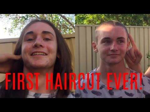 15 YEAR OLD GETS FIRST HAIRCUT EVER! (SHAVED BALD)