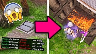 I have A FAILED TO OPEN the BUNKER SECRET INDESTRUCTIBLE !!! ON FORTNITE BATLLE ROYALE