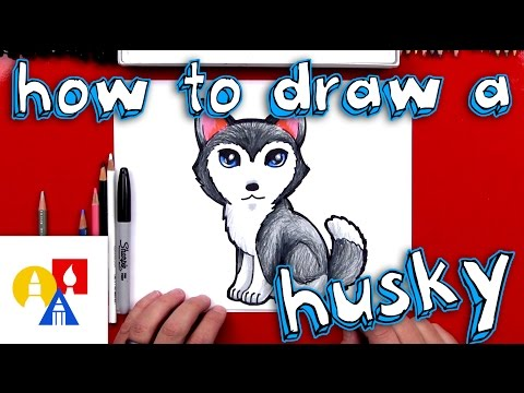 How To Draw A Cartoon Husky