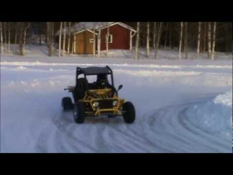 My GS Moon buggy on ice. Detailed view - YouTube