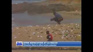 OPEN DEFECATION AT LA BEACH GOT NEW  GOT