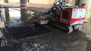 Гидродемонтаж бетона на стадионе Зенит (СПб), горизонтальные поверхности(В апреле 2014 года, компания Innojet провела гидродемонтаж (гидроснос) бетона на строящемся стадионе Зенит Арена..., 2014-05-12T07:46:24.000Z)