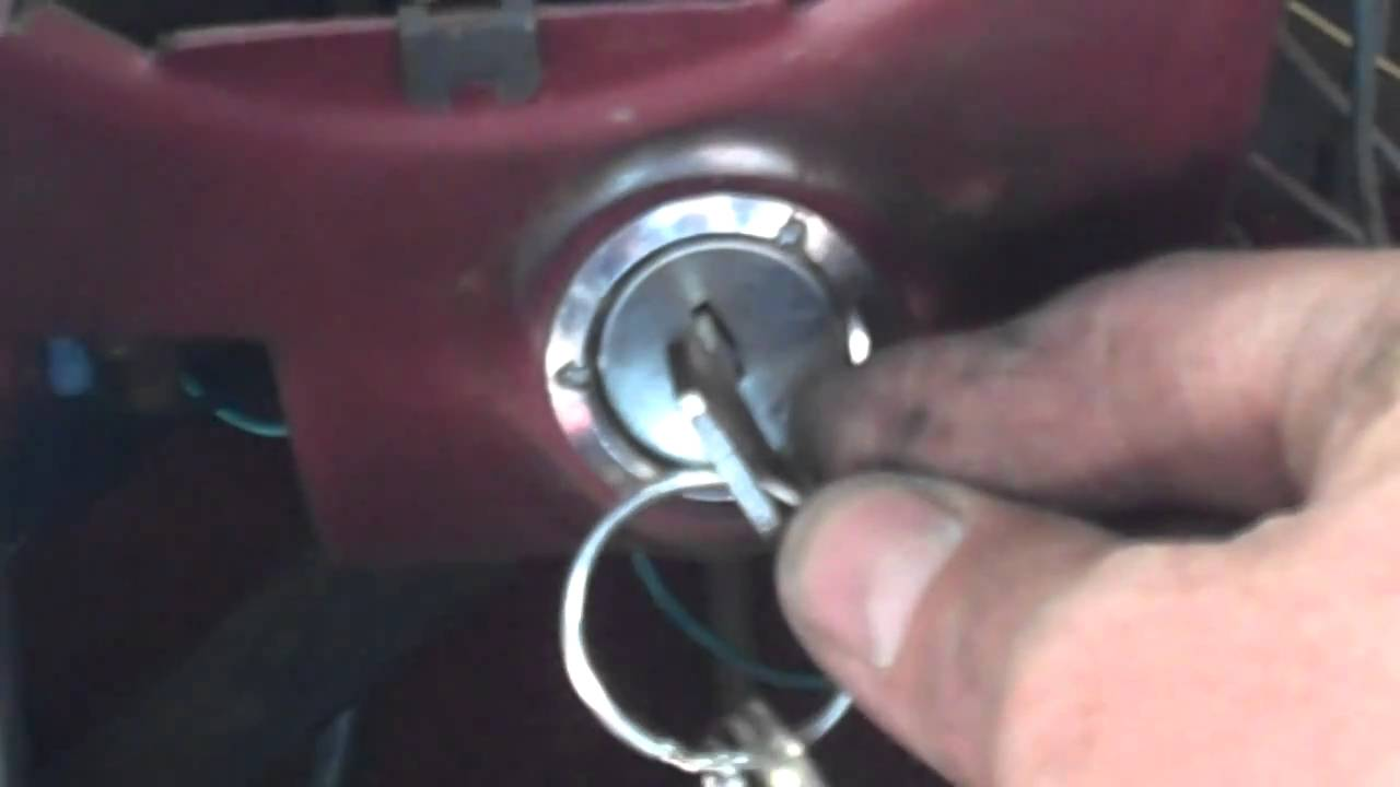 1972 Ford Mustang Ignition Switch Removal