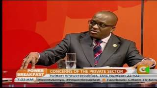 Power Breakfast : Concerns Of the Private Sector