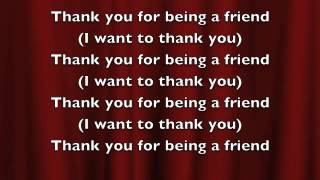LYRIC VIDEO - Thank You For Being a Friend - Key of F - PS317