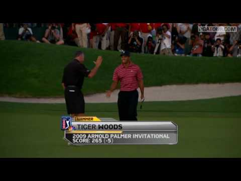 Tiger Woods Birdies the 72nd Hole at Bay Hill in 2009