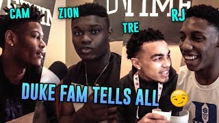The FIRST TIME Zion Williamson, RJ Barrett, Cam Reddish & Tre Jones Hungout! Duke Guys Are HILARIOUS