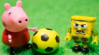Свинка Пеппа новая серия Мультик из игрушек на русском Джордж и Пеппа играют в футбол