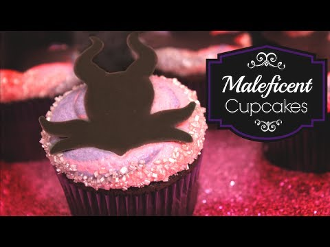 How to Decorate Maleficent Cupcakes - YouTube