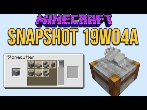 Minecraft 1.14 Snapshot 19w04a Stonecutter Functionality Added!