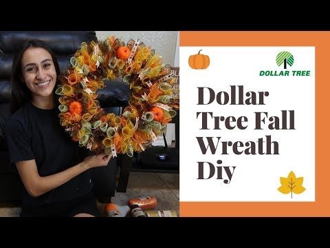 DOLLAR TREE / FALL WREATH DIY!!