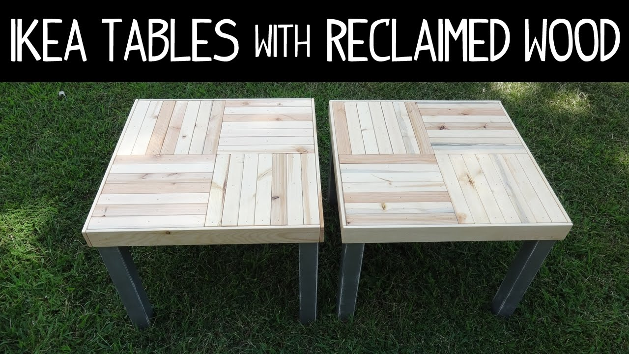 ikea lack table makeover version 2 with reclaimed wood slats